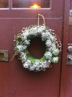 julkrans, tall, dörrkrans, jul, christmas wreath