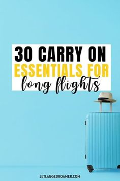 Don't know what carry on essentials you need? Find out the 30 carry on essentials for long flights you absolutely need so you can survive them easily. Don't stress what to put in your carry on luggage with my carry on essentials listed in this post. So check out now all the carry on bag essentials so you're ready to head out on the next jet plane. #carryonpacking #carryonessentials #carryonbag #carryonluggage #carryonlist Carry On Bag Essentials, Carry On Packing, Packing List For Vacation, Road Trip Packing, Packing For A Cruise, Packing Tips, Long Flight Tips, International Travel Tips, Long Flights