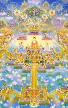 Tibetan Buddhism, Buddhist Art, Buddha Quotes Inspirational, Amitabha Buddha, Mahayana Buddhism, Happy Lunar New Year, Occult Symbols, Buddha Zen, Thai Art
