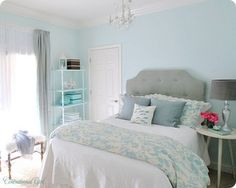Turqouise & Silver Bedroom - Traditional - Bedroom - other metro