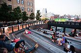 http://www.thehighline.org/visit  Old elevated train in NYC made into a park!