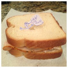 Funny turkey sandwich