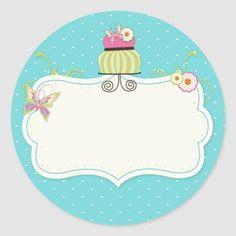 Pegatina Redonda Etiquetas caprichosas de la torta | Zazzle.com Dessert Logo, Cupcake Logo, Cake Logo Design, Blog Backgrounds, Happy Birthday Meme, Poster Background Design, Bakery Logo, Candyland, Cute Stickers