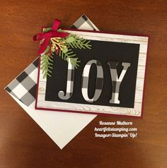 Stampin Up Large Letters Christmas Card - Rosanne Mulhern Stamped Christmas Cards, Homemade Christmas Cards, Stampin Up Christmas, Christmas Cards To Make, Merry Little Christmas, Xmas Cards, Christmas Greetings, Homemade Cards, Handmade Christmas