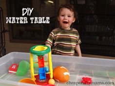 DIY Water Table - So easy! (Cheap Crafty Mama)