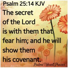 Psalm 25:14 KJV Jesus Bible, Bible Scriptures, Bible Quotes, Psalm 25, King James Bible Verses, Fear Of The Lord, The Covenant, Word Of God, Christian Quotes