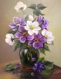 """Anca Bulgaru – """"Flowers of Zorilor"""" - New Deko Sites Oil Painting Flowers, Painting & Drawing, Art Floral, Container Flowers, Pictures To Paint, Painting Inspiration, Flower Art, Watercolor Art, Beautiful Flowers"""