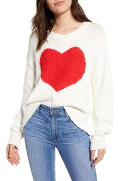 Enjoy exclusive for Wildfox Heart Struck Jella Sweater online - Popularbestsellers Half Zip Sweaters, Sweater Fashion, Maternity Dresses, Wildfox, Hooded Jacket, What To Wear, Nordstrom, Pullover, Style Inspiration
