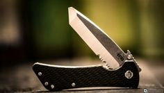 Southern Grind Knife - Bad Monkey Folding Modified Tanto Serrated - Tumbled Satin | LaRue Tactical.  - $255