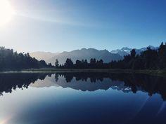 New Zealand road trip Lake Matheson