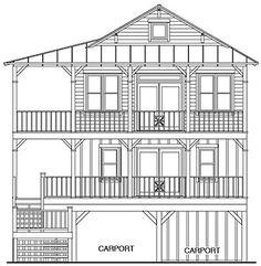 Coastal Home Plans - Roanoke Marshes 1536
