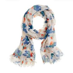 Printed washed scarf - Jcrew