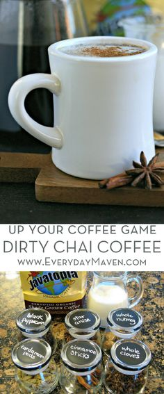 My Dirty Chai Coffee Recipe combines freshly ground Chai Tea spices with brewed coffee to make one of the most aromatic and flavorful cups of Joe! Made in partnership with Fred Meyer via @EverydayMaven