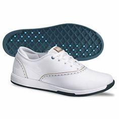 Nike Golf Ladies Duet Classic Golf Shoes 2013 - White/White-Vachetta Tan