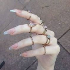 - Women Accessories - 20 couleurs de vernis à ongles tendance 2018 20 colors of trend 2018 nail polish. Bling Bling, Stiletto Nail Art, Acrylic Nails, Clear Acrylic, Gorgeous Nails, Pretty Nails, Amazing Nails, Fabulous Nails, Witchy Nails