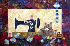 Sewing Cat by Edyta Sitar, Laundry Basket Quilts