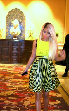 Splurge: Nicki Minaj's American Idol Versace Memphis Cut-Out Detail Dress