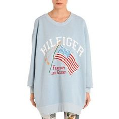 Flag Printed Sweatshirt Tommy Hilfiger Hoodies