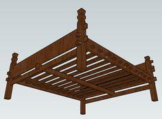 sca: Viking Slat Bed - Based on the Oseberg and Gokstad Beds