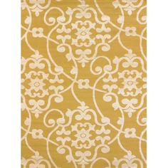 United Weavers Visions Area Rugs - 970-20511 Contemporary Harvest Gold Vines Petals Scrolls Swirls Rug
