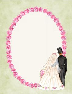 Wedding day oval frame