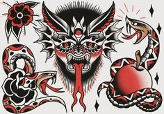 #flash #flash_sheet #traditional #tattoo #tradtattoo #traditionaltattoo #oldschooltattoo #inked #tradflash #traditional_flash #traditionaltattooflash #olomouctattoo #lovetat #lovetattoo #traditional_tattoo #sketchbookpro #wacomtattoo #digitalpainting