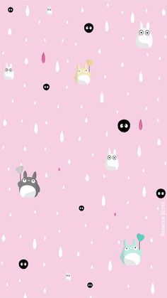 Pink Totoro iPhone background