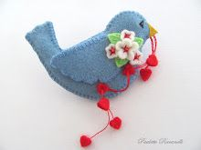birdie with string of hearts pin