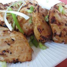 Thaise-stijl kipkebabs