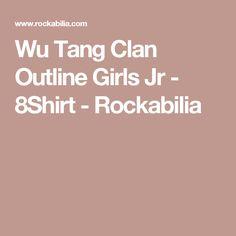 Wu Tang Clan Outline Girls Jr - 8Shirt - Rockabilia