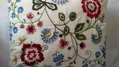 "IKEA Alvine Flora Embroidered Pillow~ 20"" x 24"""