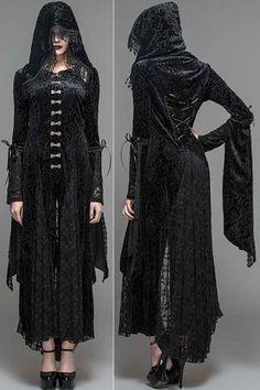 Jezebel Black Velvet Gothic Jacket by Devil Fashion
