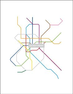 madrid metro map art! need this! but where to put it?!
