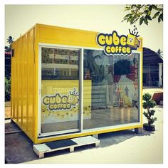 Some examples of modified shipping containers Container Coffee Shop, Container Office, Container Shop, Cafe Shop Design, Kiosk Design, Container Home Designs, Shipping Container Conversions, Shipping Container Homes, Shipping Containers