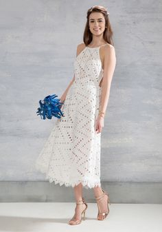 Be-All East End-All Dress in White - White, Tan / Cream, Solid, Casual, A-line, Sleeveless, Spring, Woven, Best, Long, Bride, Wedding