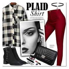 """Plaid Shirt"" by oshint ❤ liked on Polyvore featuring Chanel"