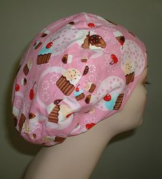 Cupcake Pastry Chef  Bakery European OR Scrub Hat by trulyscarlet1