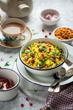 Indori Poha or Indori Pohe, is one of the most popular street food of Indore, Madhya Pradesh. Indori Poha is an easy-to-cook, light and nutritious snack. Indori Poha is super tasty and easy to make. Indori Poha is an Indore's popular breakfast. Indori Poha is sweet, sour and salty served with sev and onions on it.