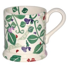 One of our favourite summer flowers, the Sweet Pea, on an Emma Bridgewater mug.