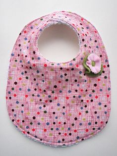 Adorable handmad bib for a baby girl
