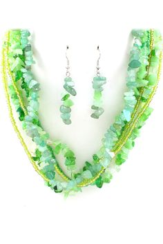 Layered Mint Jade Necklace