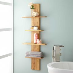 Wulan Hanging Bathroom Shelf - Four Shelves