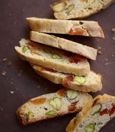 Crunchy pistachios and sweet dried apricots have a perfect marriage in these irresistible biscotti. Recipe: Apricot and Pistachio Cornmeal Biscotti Apricot Biscotti Recipe, Best Biscotti Recipe, Pistachio Biscotti, Pistachio Cookies, Cookie Desserts, Cookie Recipes, Dessert Recipes, Cookie Table, Cornmeal Recipes