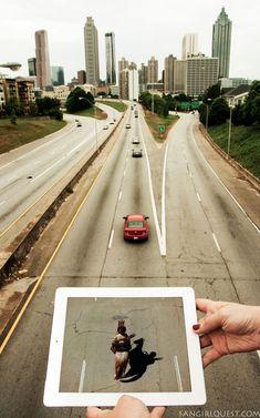GOLDENMOUSTACHE.COM: Recréer Des Scènes Connues Avec Un iPad