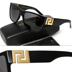 $455 GIANNI VERSACE Men's POLARIZED GREEK KEY SUNGLASSES