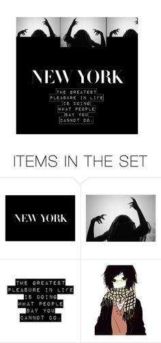 """Idk."" by akihabara ❤ liked on Polyvore featuring art, Newyork, NYC and artset"