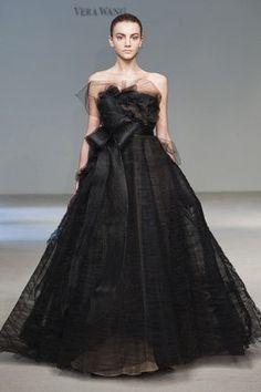 Bride Wearing Vera Wang Black Wedding Dresses