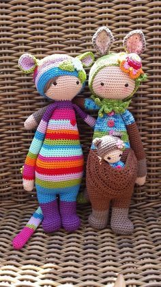 RADA the rat & KIRA the kangaroo made by Patricia N. / crochet patterns by lalylala