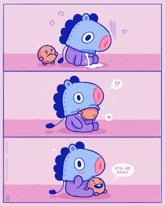 SO CUTE. I CANNOT. Mang and Shooky are adorable. (Favorites in BT21 are still Mang and RJ. Shooky is a close second though)