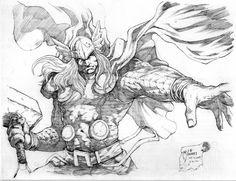 Thor sketch by werder.deviantart.com on @DeviantArt
